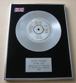 DAVID BOWIE - CHINA GIRL PLATINUM Single Presentation DISC